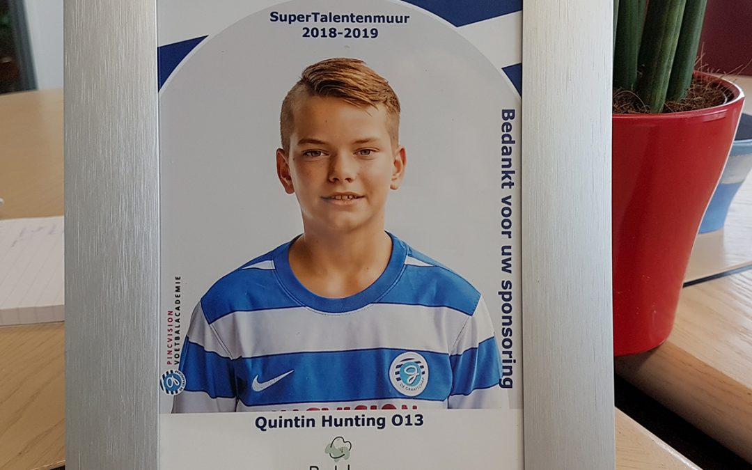Sponsor Graafschap talent Quintin